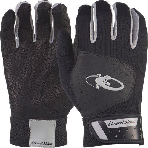 AKOM-B Lizard Skins Adult Komodo Batting Gloves - Black THUMBNAIL
