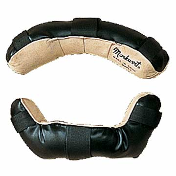 3MPLVB Markwort Replacement Leather Pads - Black/Tan THUMBNAIL