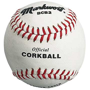 Markwort Leather Corkballs 1.8 Oz - White THUMBNAIL