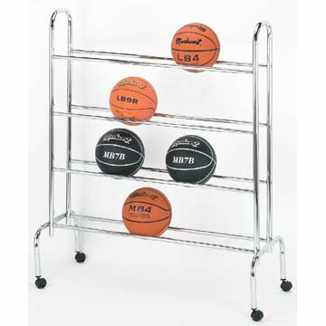 BCX16 Markwort Metal Rack Basketball Carrier - Holds 16 MAIN