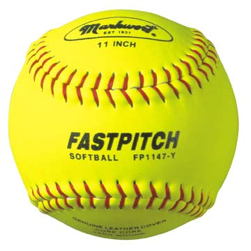 "Markwort 11"" FP Leather Softball Yellow THUMBNAIL"