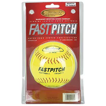 "Markwort 12"" FP Softball Yellow - Clamshell THUMBNAIL"
