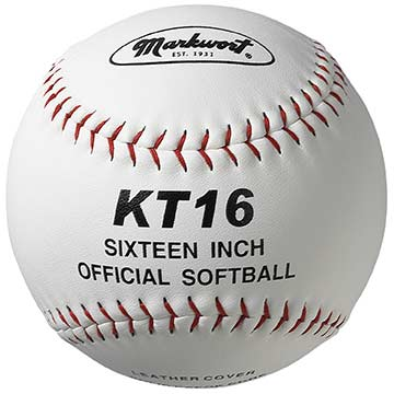 "Markwort 16"" Softball Leather / Red Stitch THUMBNAIL"