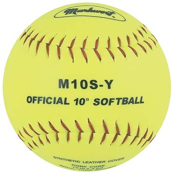 "Markwort Synthetic Cover Softball 10"" Yellow THUMBNAIL"