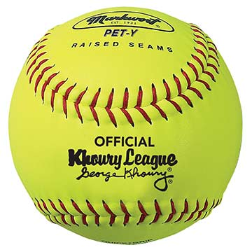 "PETY Markwort 10"" Khoury Softball Yellow/Red Stitch MAIN"