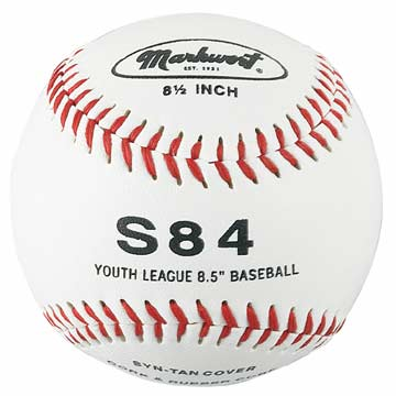 "S84 Markwort Synthetic Cover Baseball 8.5"" - White MAIN"