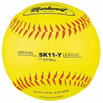 "Markwort Synthetic Softball 11"" Yellow THUMBNAIL"