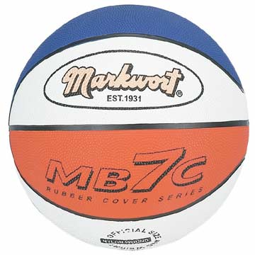 "MB7C Markwort Rubber Basketball - 29.5"" - Red/White/Blue MAIN"