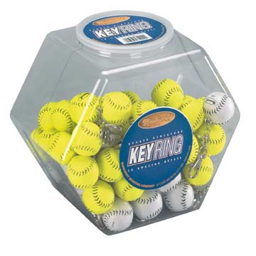 MILDISP Canister Display with 60 Baseball Miniature Keyrings MAIN