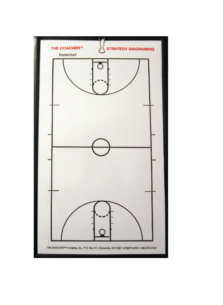 C3000 Coacher Frame-Less Magnetic Board - Basketall MAIN