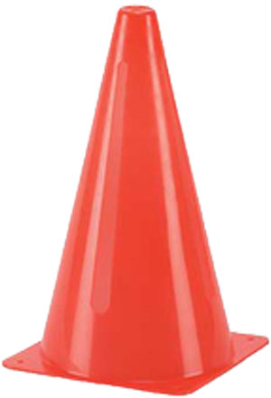"Markwort 9"" Cone w/Slits - Orange THUMBNAIL"