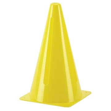 "CT9Y Markwort 9"" Cone w/Slits - Yellow LARGE"