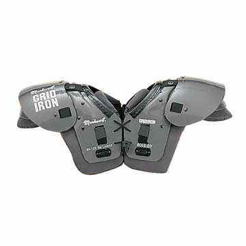 8005GY Markwort Football Shoulder Pads - Youth Large - Grey MAIN