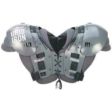 8018GY Markwort Football Shoulder Pads - Adult - Large - Grey THUMBNAIL