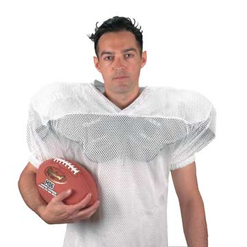 A76W Markwort Porthole Mesh Football Jersey - Adult - White MAIN