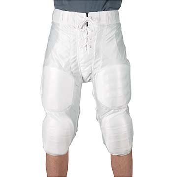 YFP83W Markwort Slotted Football Pants - Youth - White MAIN