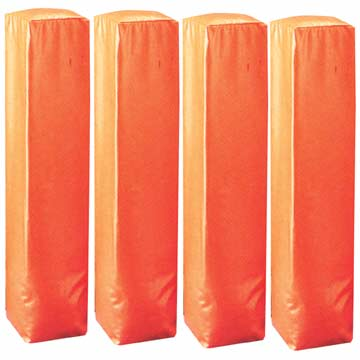 PY4O Markwort Football Pylons for Goal Line & End Zone - Orange - 4 Pcs THUMBNAIL
