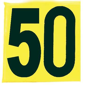 SIDE50 Markwort Football Single Sideline Marker - 50 Yard THUMBNAIL
