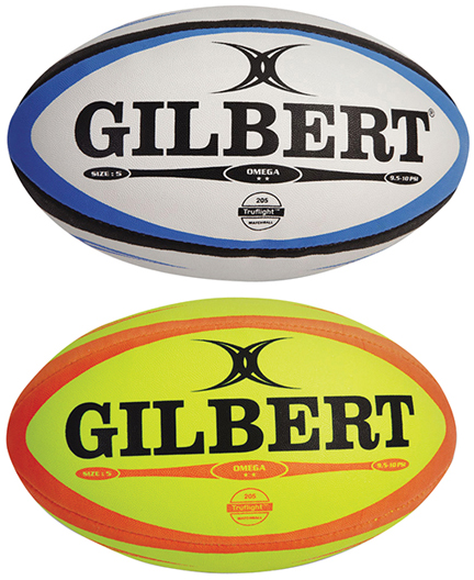 GIL3204 Gilbert Omega Match Rugby Ball - Assorted Colors Size 4 THUMBNAIL