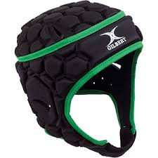 GIL382BKGR Gilbert Falcon 200 Head Guard - Black/Green THUMBNAIL