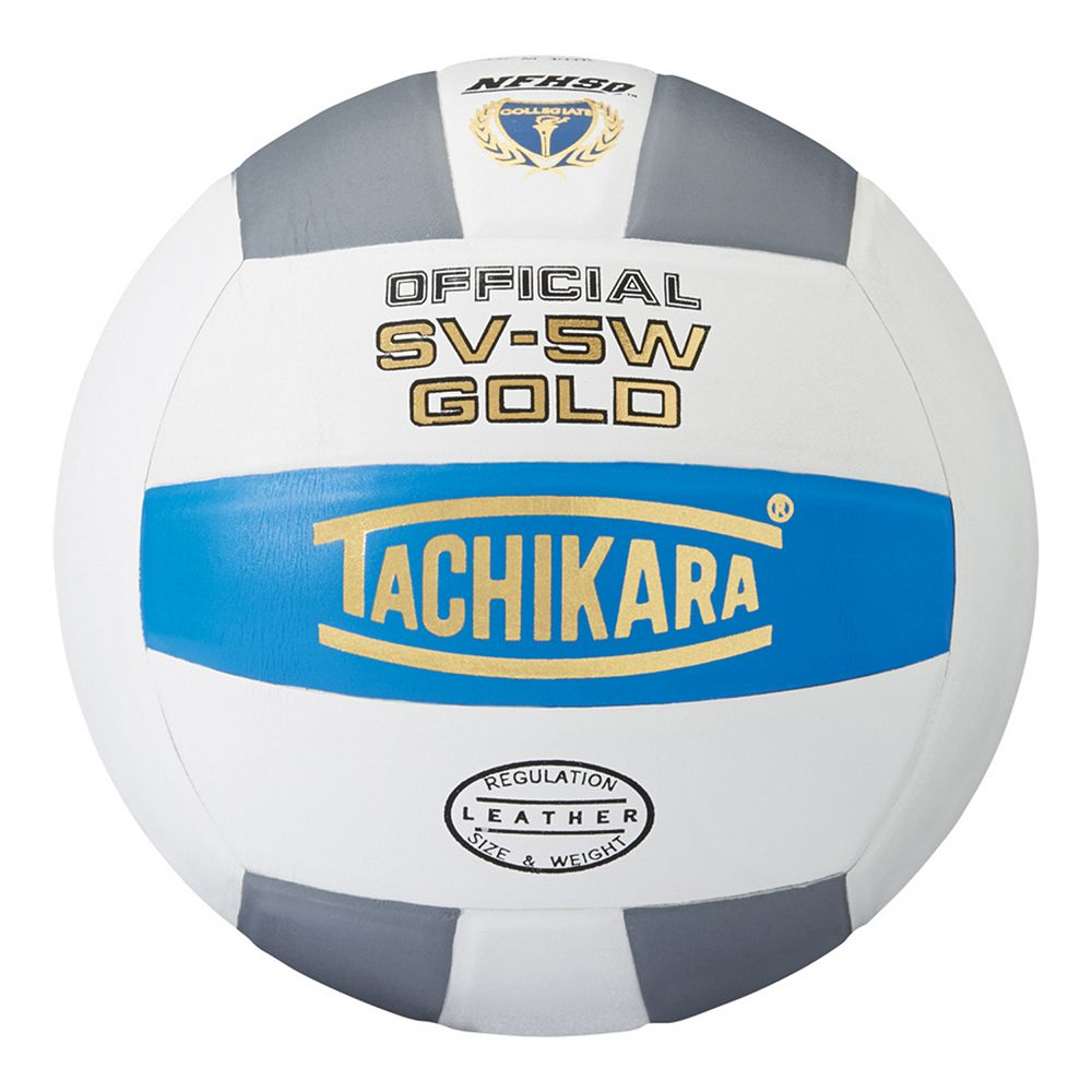 GOLDCWG Tachikara NFHS SV-5W Gold Volleyball - Blue/White/Silver THUMBNAIL