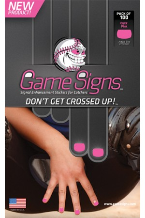 GSIGNPK Game Signs Signal Stickers Pack of 100 Pink MAIN