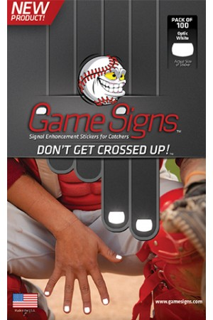 GSIGNW Game Signs Signal Stickers Pack of 100 White THUMBNAIL