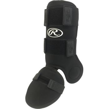 GUARDLG Rawlings Batter's Leg Guard - Black THUMBNAIL
