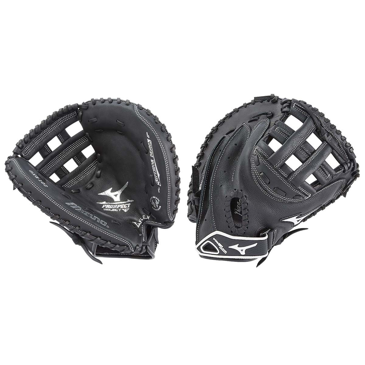 "GXS102 Mizuno 32.5"" Prospect Select Fastpitch Catcher's Mitt - Regular THUMBNAIL"