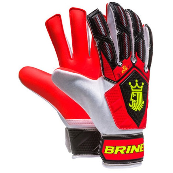 KGM2J6FLM Brine King Match 2x Goalie Gloves - Junior -  Flame THUMBNAIL