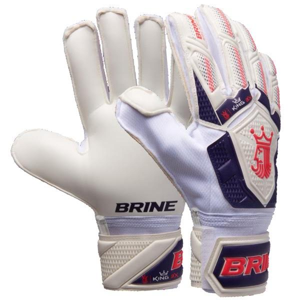 KGM37WPL Brine King Match 3X Goalie Gloves White/Purple/Pink THUMBNAIL