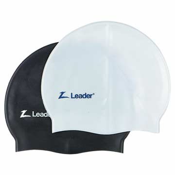 Leader Swim Cap Medley - Black MAIN