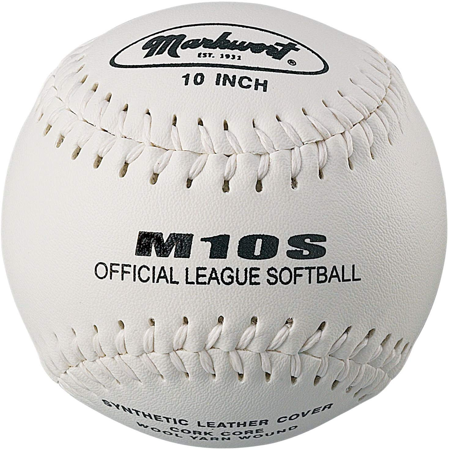 "Markwort Synthetic Cover Softball 10"" White THUMBNAIL"