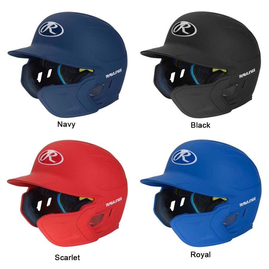 MACHEXT1R Rawlings Mach One-Tone Matte Helmet with EXT Flap - Right Handed Batter MAIN