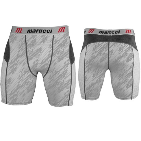 MASLCP Marucci Youth Elite Padded Slider Shorts with Cup - White Storm MAIN