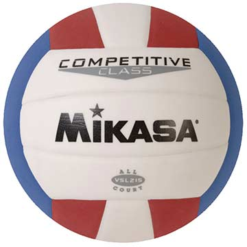 VSL215U Mikasa Competitive Class Volleyball - Red/White/Blue MAIN