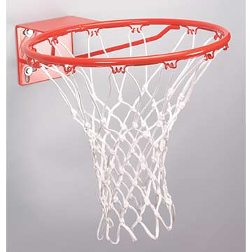 BL129AW Markwort Anti-Whip Basketball Net - White THUMBNAIL