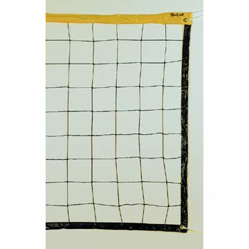 NV2432Y Markwort Volleyball Net - Yellow Top Band MAIN