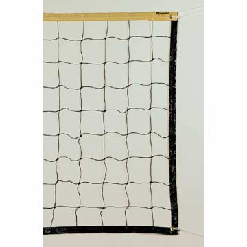 V123W Markwort Black Volleyball Net - White Top Band MAIN