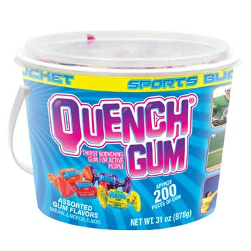 170576 Quench Sport Bucket of Gum - 200 Pieces MAIN