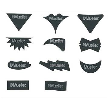 440461A Mueller® Assorted Shapes No Glare - 54 Strip Pack LARGE