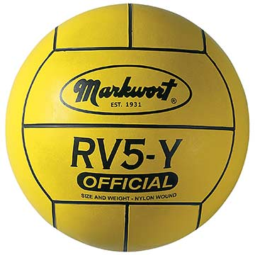 Markwort Rubber Volleyball - Yellow THUMBNAIL
