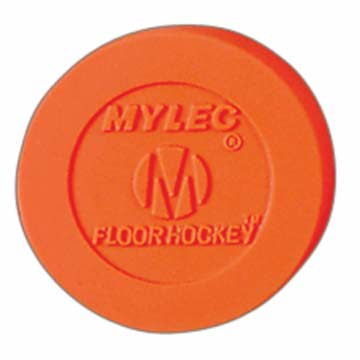 Mylec Floor Hockey Puck - Orange MAIN