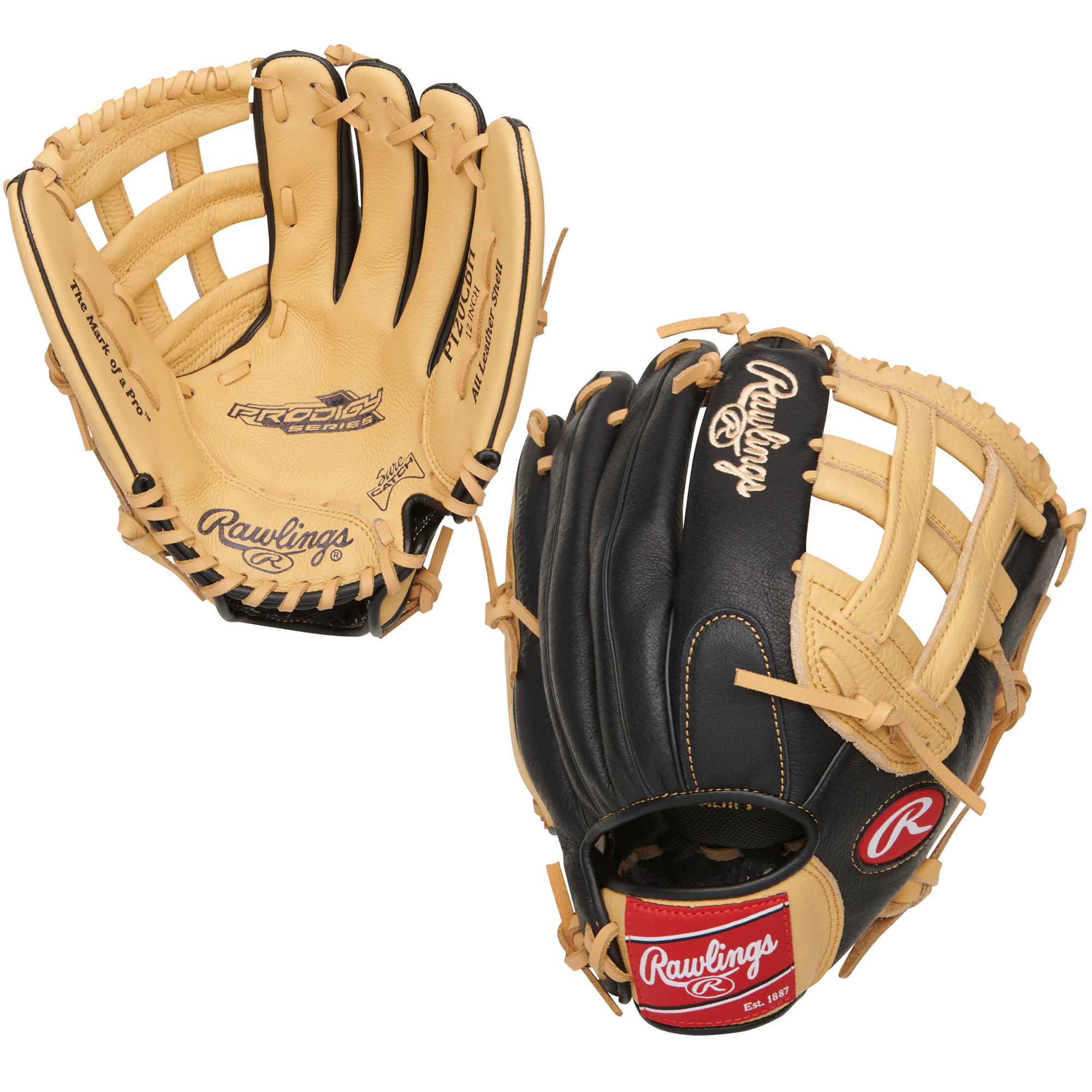 "P120CBH Rawlings Prodigy Series Ball Glove H-Web 12"" Regular THUMBNAIL"