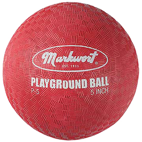 "P812RD Markwort Playground Ball 8.5"" - Red THUMBNAIL"