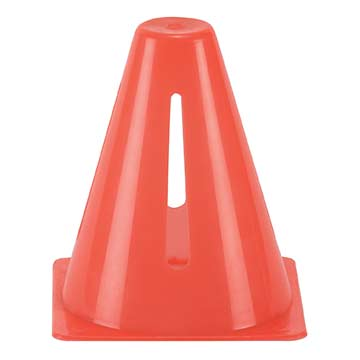 "CT6O Markwort Cone with Slits - 6"" - Orange MAIN"