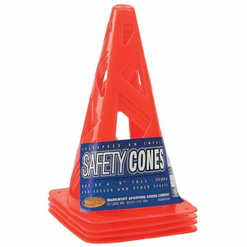 "Markwort Soccer Safety Cone 9"" - Orange - Set of 4 THUMBNAIL"