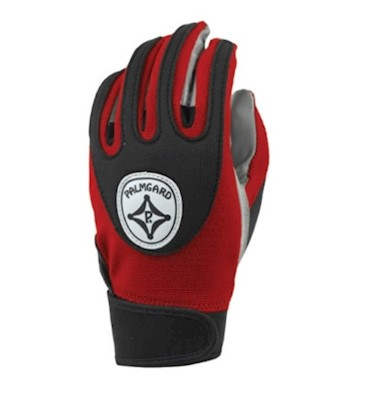 ACG185 Palmgard Football Gloves - Adult - Red/Black LARGE