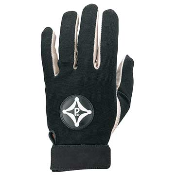 YRG302B Palmgard Receivers Gloves - Youth - Black/Grey MAIN