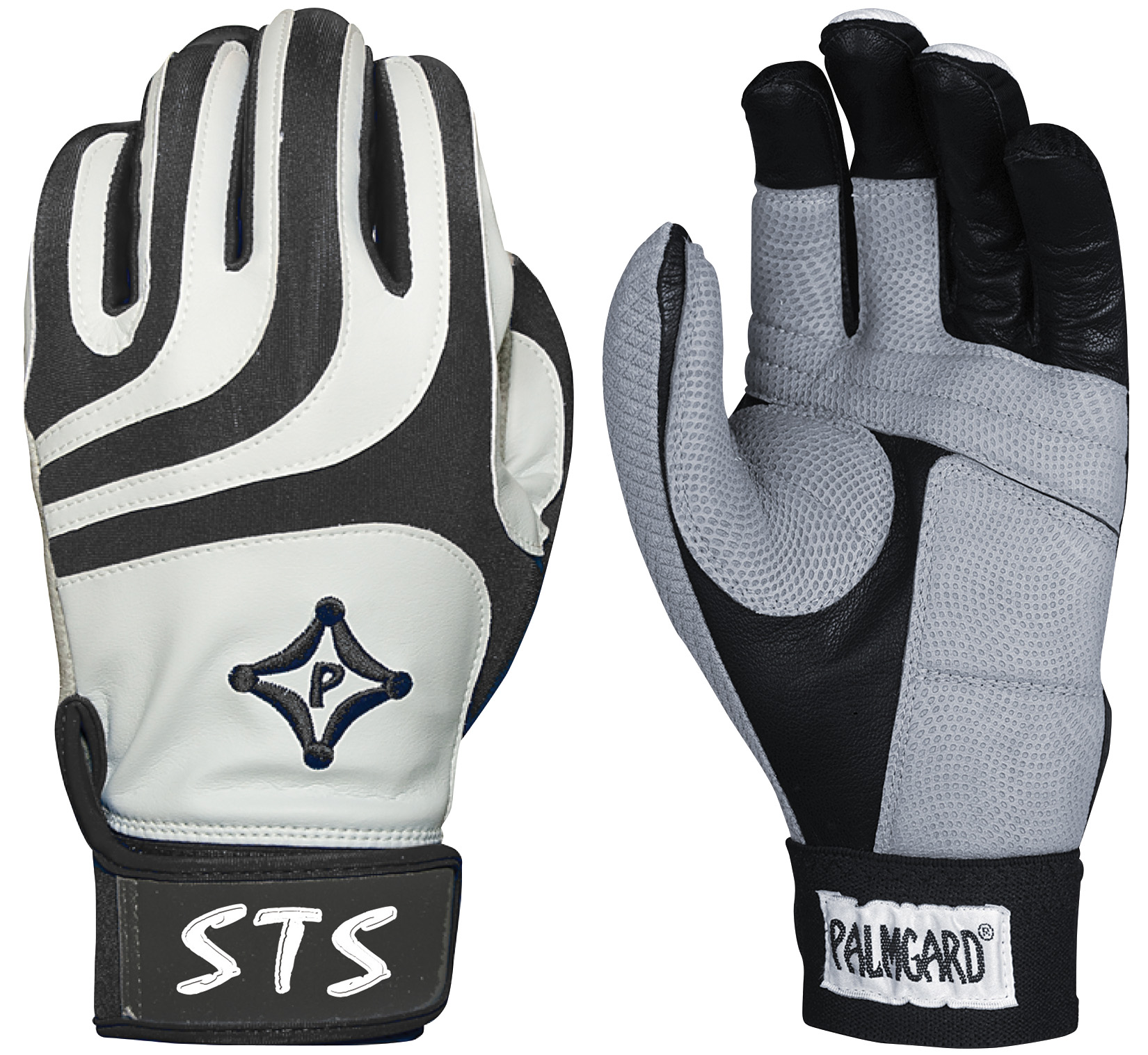 STABLK Palmgard STS Protective Batting Glove - White/Black THUMBNAIL